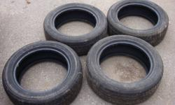 I have 4 tires for sale. In great condition, no repairs, alignment issues or balance issues. 2 tires have 6/32 tread remaining, 2 have 7/32 tread remaining (70-75% tread remaining). The tires are well above the minimum specs to pass safety. They came off