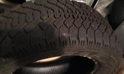 A set of 2 winter tires for sale in good condition. This Goodyear tires were hardly used for one season.