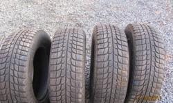 Hi, I have 4 (205/65/15) Michelin X-Ice Tires for sale. They are between 1/2 and 3/4 tread left. They are worn evenly, no holes or plugs. Asking $200 for all. Thanks