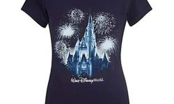 ize: XLRetails for $35, selling price for $20 Sparkling fireworks light up the night and Cinderella Castle on this Glitter Castle Disneyland Resort Tee. Made of 100% cotton and featuring the ''Walt Disney World Resort'' logo, it's a fashionable and fun