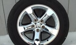 """Set of 4 Chrome, 20""""Dodge Rims with 275 60R/20 GoodYear Wrangler HP with 70% tire tread came off 2007 will fit late model trucks.(807) 626-3077 ."""