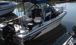 I have for sale a 20 ft. Sportcraft Fishmaster Walkaround. Boat equipped with the following. 4.3 ltr mercruser and alpha outdrive 400 hrs, bimini top, 9.9 4 stroke big foot  kicker (2007), mounting and steering bracket, 2 new scotty downriggers, marintek