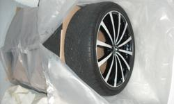 """20 """" MSR Rims & Nexxen 3000 Tires, Universal bolt pattern with spacers ,They Where on a Cadillac StS, GM bolt patter 5 x 115... Everything was bought new, used for a Summer an a 1/2, very low Kms !!!  $1500.00  O.B.O"""