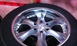 "20"" 275/55/R20 Toyo G-02-Plus mud & snow tires on polished lip Spyn wheels with BRAND NEW TPMS SENSORS Absolutely Excellent condition. Lots of tread left. Used only 1.5 seasons. 6x5.5"" (139.7) bolt pattern will fit Tahoe Escalade Yukon Avalanche Suburban"