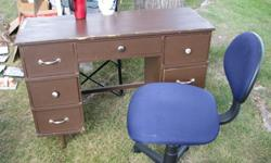 We are amalgamating households and need to get rid of some things. Desk with chair for sale for $20 OBO