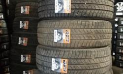 215/60/17 Sets of 4 will start at $280.00 and up installed and balanced. Many brands Cooper, Firestone, Bf Goodrich AND MORE!! Tread depth starts at 60% and some are close to new, hurry in while quantities last.