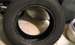 A set of 2 winter tires for sale in good condition. Lots of thread left for the winter, used for one full season only.