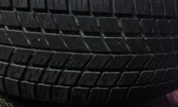 2 all season tires with good tread. There is 1/4 inch of tread.