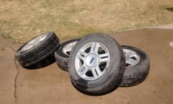 4 Ford rims and tires. Good tread on tires and Rims are in great shape.