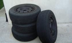 I HAVE 4 RIMS WITH M&S TIRES ON THEM  SIZE   215/70R15 M/S.   THESE ARE FROM A 2003 DODGE CARAVAN.  THE TIRES DO NOT HAVE MUCH TREAD LEFT BUT THE RIMS WOULD BE GREAT TO USE IF YOU HAVE WINTER TIRES/OR SUMMER TIRES NEEDING THE RIMS!  WE NEED THE SPACE SO
