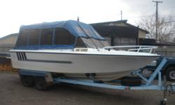 LARSON 21 FT BOAT, EXC SHAPE, WELL LOOKED AFTER, 188 HP 302 ENGINE, NEW SEATS, AND NEW EXTRA TALL FULL CANOPY, AWESOME BIG LAKE BOAT, ADD A COUPLE DOWN RIGGERS AND GO! A STEAL AT $5000 OR INTERESTING TRADES?? CALL 807-707-1796