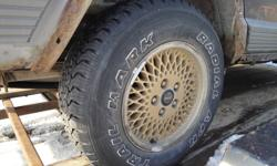 4 225-75 R15 Trailmark ATR tires mounted on '92 Jeep Cherokee rims. $200 firm.