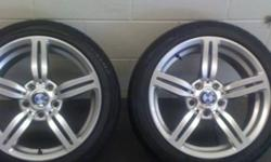 I'm selling a set of 225/45 r17 m6 Replica rims with like new tires (8mm new, they have 6mm now) They were just road-force balanced at Georgian BMW. Asking $650 Pls feel free to ask me any questions Reason for selling is I'm getting different set of