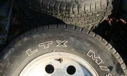 "225/75/15 225 75 R15 4 MICHELIN LTX TIRES, 4 ALUMINUM RIMS HAD ON 1981 C10 CHEVY TRUCK SMALL BOLT RIMS All 4 = $150   TREAD OK USED FOR SUMMER APPROX TREAD DEPTH 1/4""   NO CENTRE CAPS   IF AD UP ITEMS STILL AVAILABLE"
