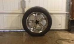"""Set of 22 inch rims with 305/45R22 tires.  Bought for my 2004 Ford F150 but they have 2 different bolt patterns on them but I am unsure of the other 1.  Never seen snow, I got them and now I think I am going to sell my truck.  $1100 Comes with 2 extra 22"""""""