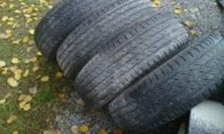 I have 4 Michelin Cross Terrain SUV tires (235/70R16) in good shape, they still have some life left in them, 150 bux for all 4, O.B.O....or trade for something?.....power tools,air tools..etc... thanks