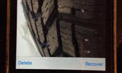 Set of 4 Winterforce tires used one winter. Size 235/70R16. Vehicle is sold so don't need the tires. Very good tread.