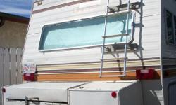 """""""79, 454 on propane rebuilt engine,works fine, good tires & battery, new roof, no leaks, 4 burner stove, oven, fridge,double sink, lots of storage,3 pce. bathroom, light colored interior, rust colored upholstery, rear bed or double dinette, sleeps 8,"""