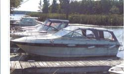 """Description: 23' length, beam 8'6"""", 260 hp Mercruiser (1000 hours), swim platform and ladder, great cruising boat Canvas: full camper top with screens + mooring cover (excellent condition) Head: one marine pump-out Newly installed: new impeller water pump"""