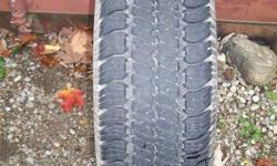 One GoodYear Wrangler SR-A, P245/70R16. Tire has excellent tread, like-new. No longer drive anything using this size. You won't find one any cheaper.   $20   Can be picked up in Cambridge or Kitchener   519-622-0798   Ad will be deleted when sold
