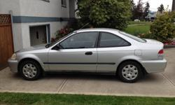 Make Honda Colour Silver Trans Manual kms 231349 Very well maintained little vehicle. Recently put through provincial safety examination coming from Alberta. Recently replaced timing belt, water pump, battery, brakes, front windshield, wipers, and back