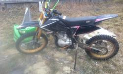 nothing wrong with it it only has about 25hr on it comes with a brand new helmet no sctraches on helmet only worn three times selling cuz dont ride it and i want to put new plastic on my street bike i live in invermere bc about an hour north of cranbrook