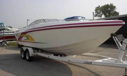 Lightly used Checkmate 261 with 502 MPI / BRAVO II in pristine condition. This boat has 280 HRS and has always been trailered then used for the day or weekend and then put away covered.  Waxed every season top to bottom, never painted.  Always Mercruiser