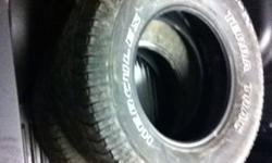 Set of 4 tires with lots of tread left. tire is a michelin terra-trac.Call/txt with offers 780-972-4655 This ad was posted with the Kijiji Classifieds app.