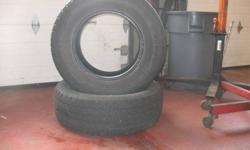 Used tires for sale   2x 265/70R17 Cooper Discovery: 6/32 tread left .........$125/pair   4x 265/70R18 Toyo G-O2 plus: 5/32 or more tread left ........$250/set or $300 installed   Daytime # 905-371-1522 Evening # 905-354-0559 ask for Dave.