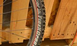"""26"""" Front wheel with zac19 rim and panaracer tire In good condition as far as I know, but hasn't been used in 5+ years."""
