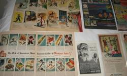 DATING 1940' & 60'S 26 PAGES OF ADS   WESTERN AUTO CCM COKE SCHICK SHAVER SNOW CRUISER GIBSON CARDS KROEHLER KODAK