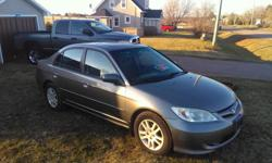 Make Honda Model Civic Sdn Colour grey Trans Automatic kms 240 2005 honda civic fully loaded 2900$ FIRM CAR INSPECTED TIL NOVEMBER 2016 air cruise power everything sun roof power mirrors cd player Car comes with brand new winter tires and a set of summer