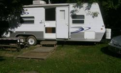 -EXCELLENT CONDITION A MUST SEE! -LRG AWNING, AC, GAS FURNACE, CD/BUILT IN STEREO SYSTEM, FRIDGE, STOVE, MICROWAVE, QUEEN SIZE, DOUBLE, SINGLE BEDS, SLEEPS 6 COMFORTABLY. -LOCATED AT GUELPH LAKE CONSERVATION AREA.     -FOR MOR DETAILS CALL 519-821-0877
