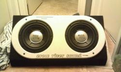 These subs are 250W RMS with 1000WPeak Dual voice coil 4ohm They sound amazing and are plenty loud enough for my SUV so Im sure they with shake the pannels off any small car. This ad was posted with the Kijiji Classifieds app.