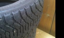 I have 2 225/50r17 Goodyear nordics that I used only last winter 90% tread or more left This ad was posted with the Kijiji Classifieds app.