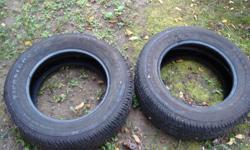 Bought these for my car April 8 2011 for $270 my car then broke down June 20th to never be drivin again. There is maybe 2000km drivin on these tires, I only ever drove from Dover to Simcoe and back again They came off a 1998 intrepid If your interested