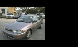 1995 Toytota Corolla DX 165,095 kilometer, Clean, No Accident Car, Well Mantained, Clean Vehicle History. Certiefied and E-tested. Terrific Tires. Call 416-718-3673Listing originally posted at