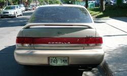 Bonjour, je vends ma corolla 1994. C'est une tres bonne auto. Moteur JDM 1.6L 160 ch avec transmission automatique 4 vitesses. selement 85000km. tachimetre groupe electrique.. Tres bon pour etudiant. ou quelqu'un qui se cherche une voiture pas cher.