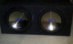 I am selling 2 Alpine 12 inch Type-S subwoofers with a sealed box and an Alpine amp. Sold my vehicle and no longer need them. Also willing to sell pieces individually.