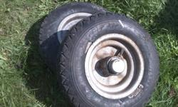 One nut install. takes standard small trailer tire
