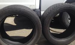 as title says 2 tires less than 2 years old 60% tread life local pick up in Sooke 250 220 3407