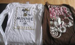2 Girls Mickey/Minnie Long-sleeve tops Size x/l Brand - Disney One says Minnie Mouse Forever and the other says Mickey Mouse $10 each ($20) or get BOTH for ONLY $15 Can meet in west end of ottawa (kanata) or pickup in Constance Bay