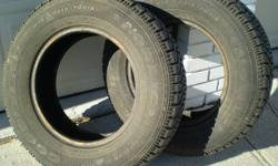 Be ready for the snow -- it's here! 2 Goodyear Nordic Snow Tires P215/70R15 In great condition. Bought new from Goodyear late in winter and only driven locally for a few months so most of the tread remains. Excellent tires in all winter driving