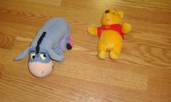 I have a set of 2 Like New Winnie the Pooh and Tigger Plush Toys for sale! These are in excellent condition and would look great in your child's room or to give as a gift. Comes from a non-smoking household. Do not miss out on this excellent opportunity