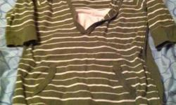 Two, size large maternity shirts. The green shirt with white stripes is a nursing shirt. Asking $5 for both. Call, text, or email, 1-403-704-0320 This ad was posted with the Kijiji Classifieds app.