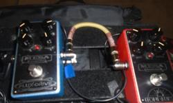 Flux Drive Great OD and Toneburst Boost Both new with boxes and docs.. Looking for trades for other OD's Wampler, Rockett, Jhs, T Rex, Nobels, Love pedal..etc..Reasonable cash offers welcome..