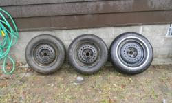 Snow is here I dont need them I WANT SOLD ASAP:2 P185/70R14 Goodyear Nordic Snow Tires on 5 bolt Dodge car rims will fit Chevy or throw them on your own rims.Snow tires are 90-95%,1 rim has a small ding in it but will throw in another brand new rim and a