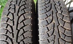 i HAVE 2 WINTER TIRE THAT I BOUGHT AT CANADIAN TIRE AT THE END OF LAST WINTER. THEY HAVE AROUND 500 KM USED. I NO LONGER HAVE MY 2004 DODGE GRAND CARAVAN IT BROKE DOWN at the end of the winter AND NOW IT SEAT AT THE JUNK YARD. TIRES ARE MOUNTED ON A