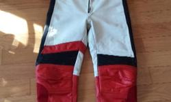 Road gear cowhide leather suit In very good condition Size is small 38 inch chest....32 inch waist