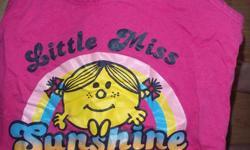 "1 girls ""Little Miss Sunshine"" t-shirt $5 1 boys/girls Old Navy pj bottoms sz 14 $5 1 girls Request pj bottoms sz 16 $5   North end Barrie, pics available"